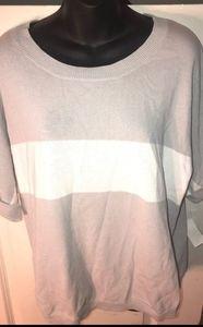 Grey and white shirt